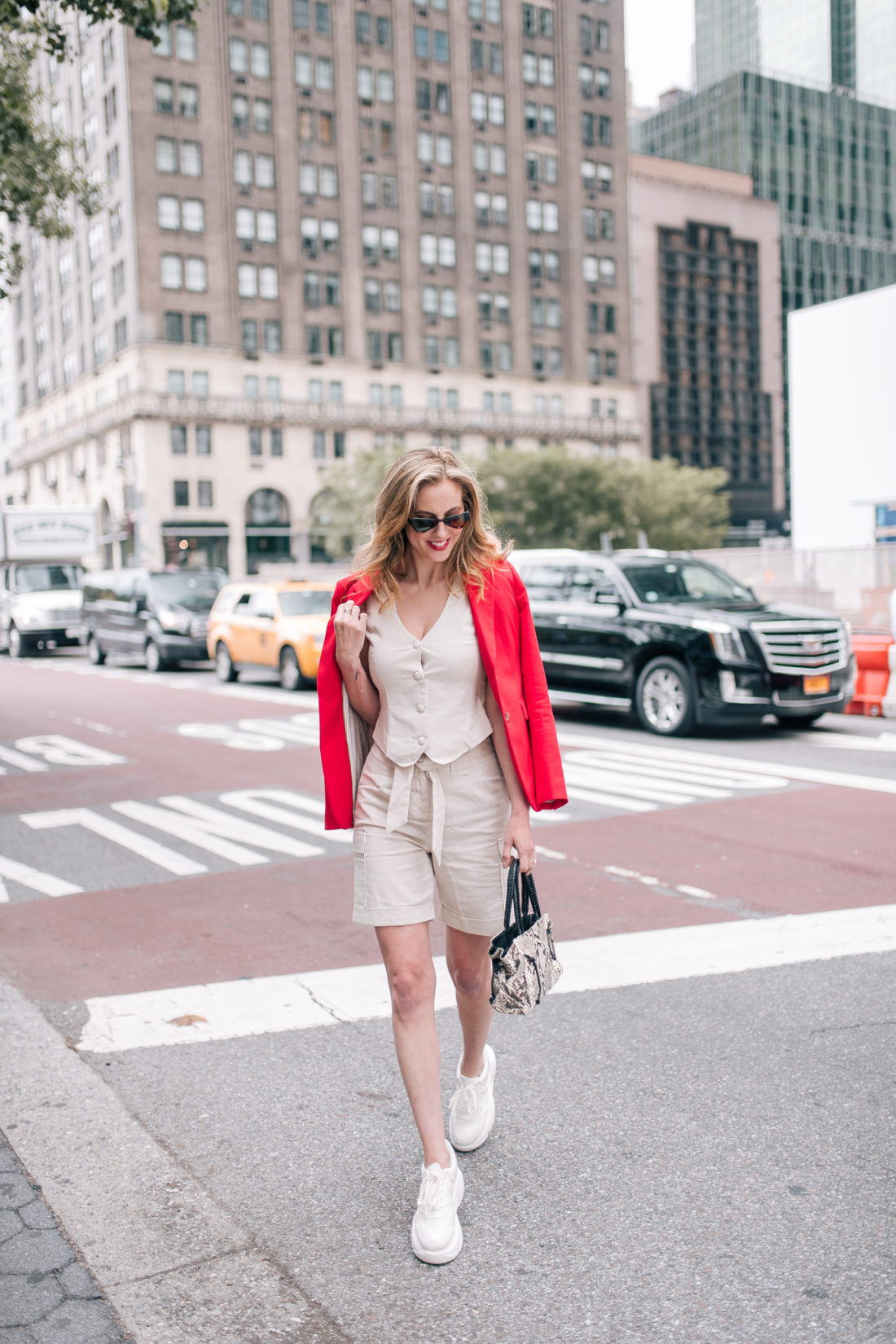 Eva Amurri Martino crosses the street in her native NYC