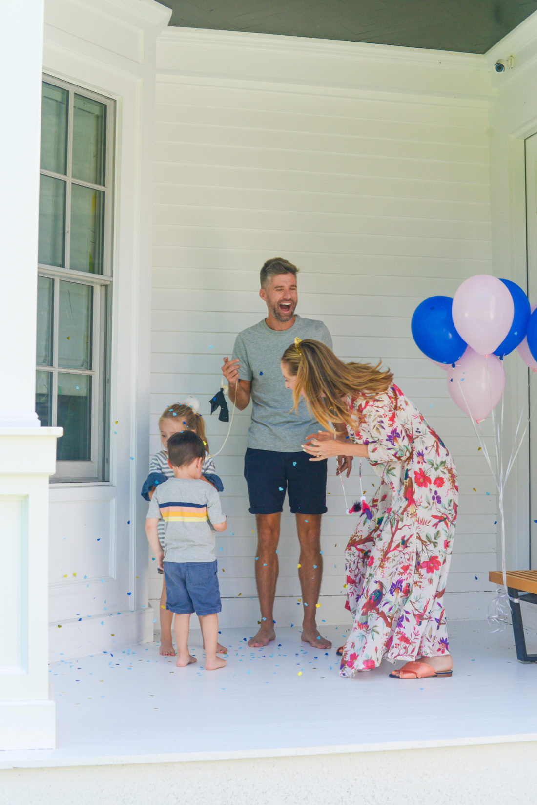 Eva Amurri Martino and husband Kyle find out the gender of their third child with their kids Marlowe and Major