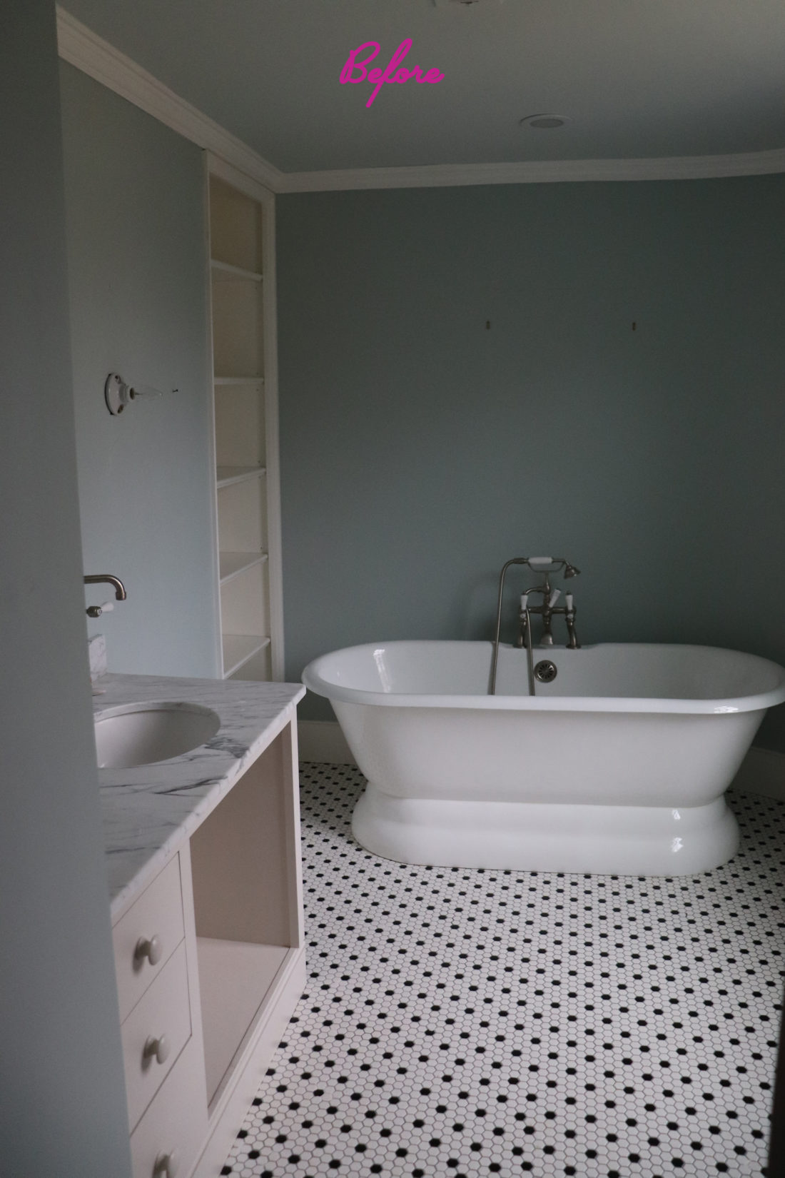 Eva Amurri Martino's bathroom before renovation and decorating