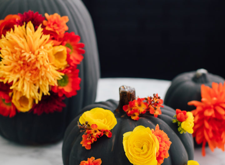 Eva Amurri Martino shares an easy fall DIY for faux floral pumpkins