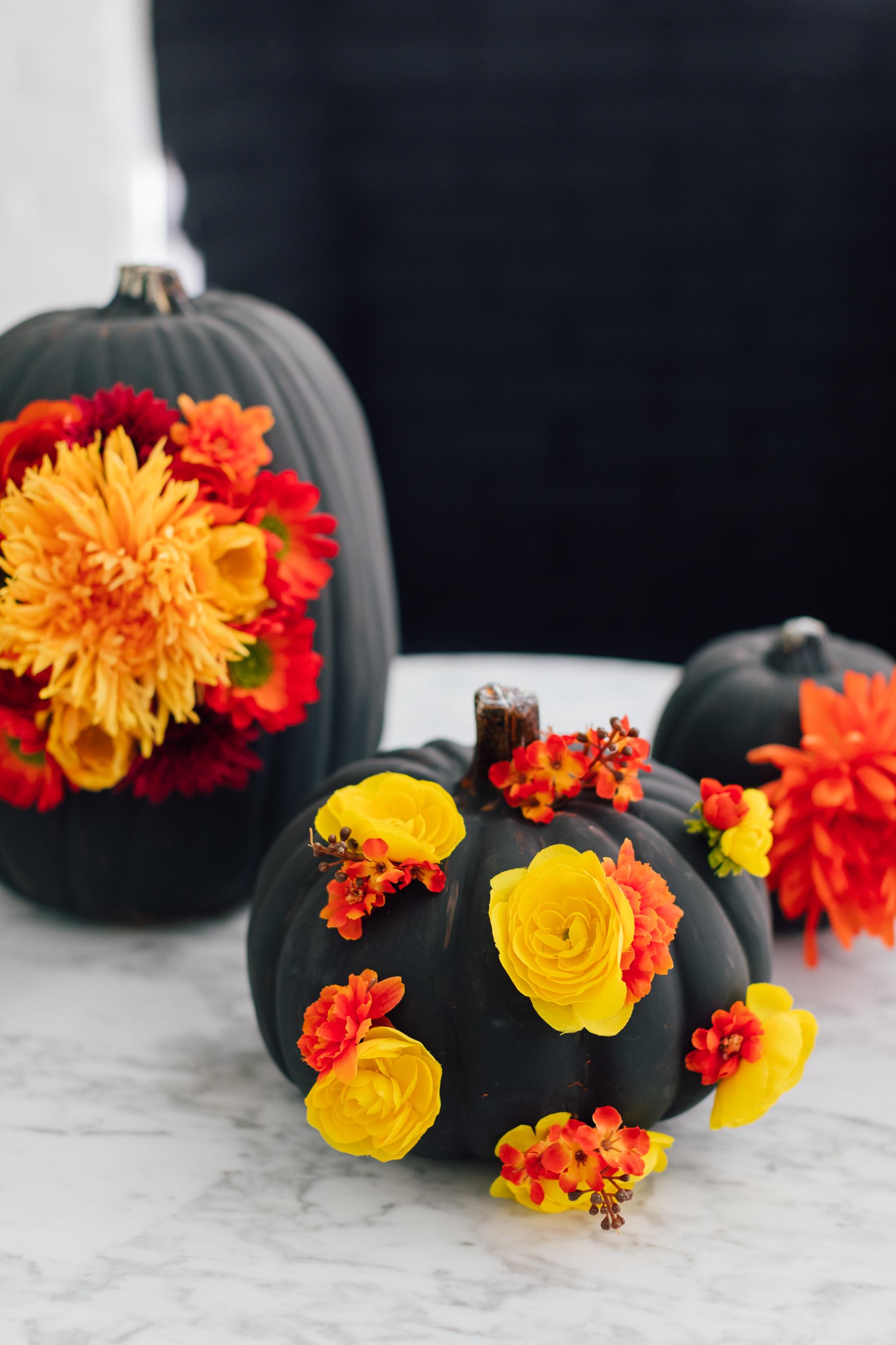 Eva Amurri Martino shares an easy fall DIY for faux floral pumpkins