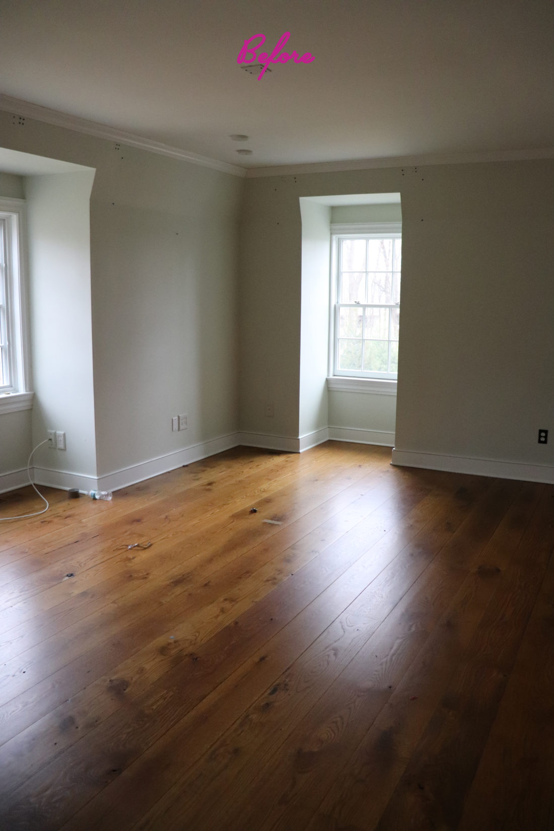 Eva Amurri Martino's master bedroom before renovation and remodeling