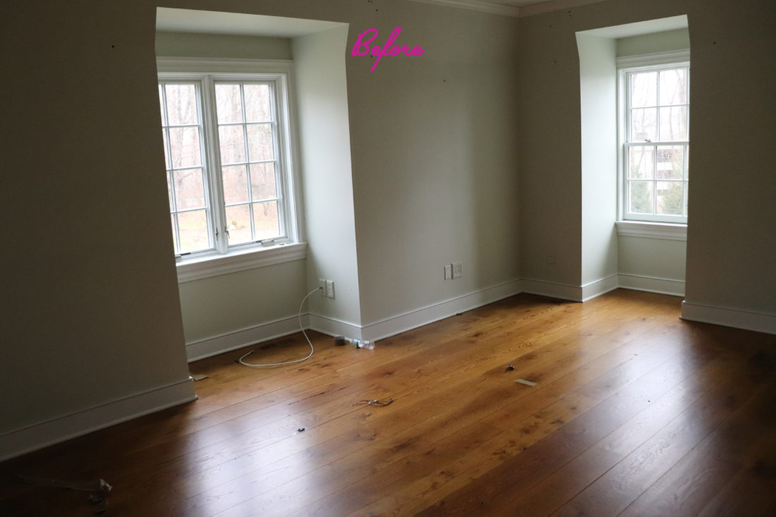 Eva Amurri Martino's master bedroom before renovation and remodeling