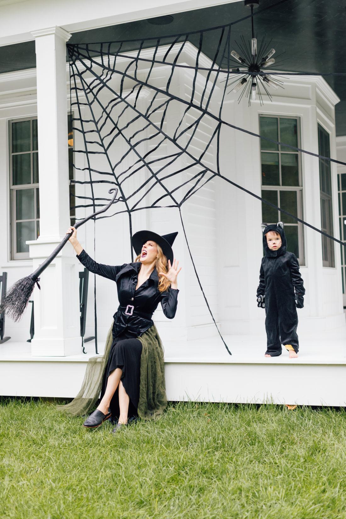 Eva Amurri Martino and son Major dress up their house for Halloween