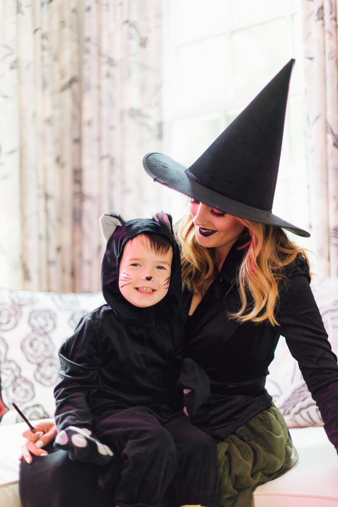 Eva Amurri Martino sits with son Major in some Halloween garb