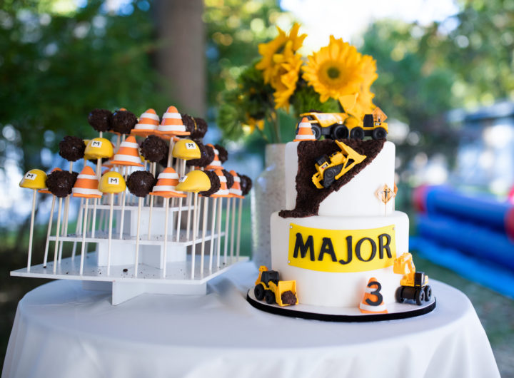 Major Martino's Construction Zone Birthday Cake and Cake Pops