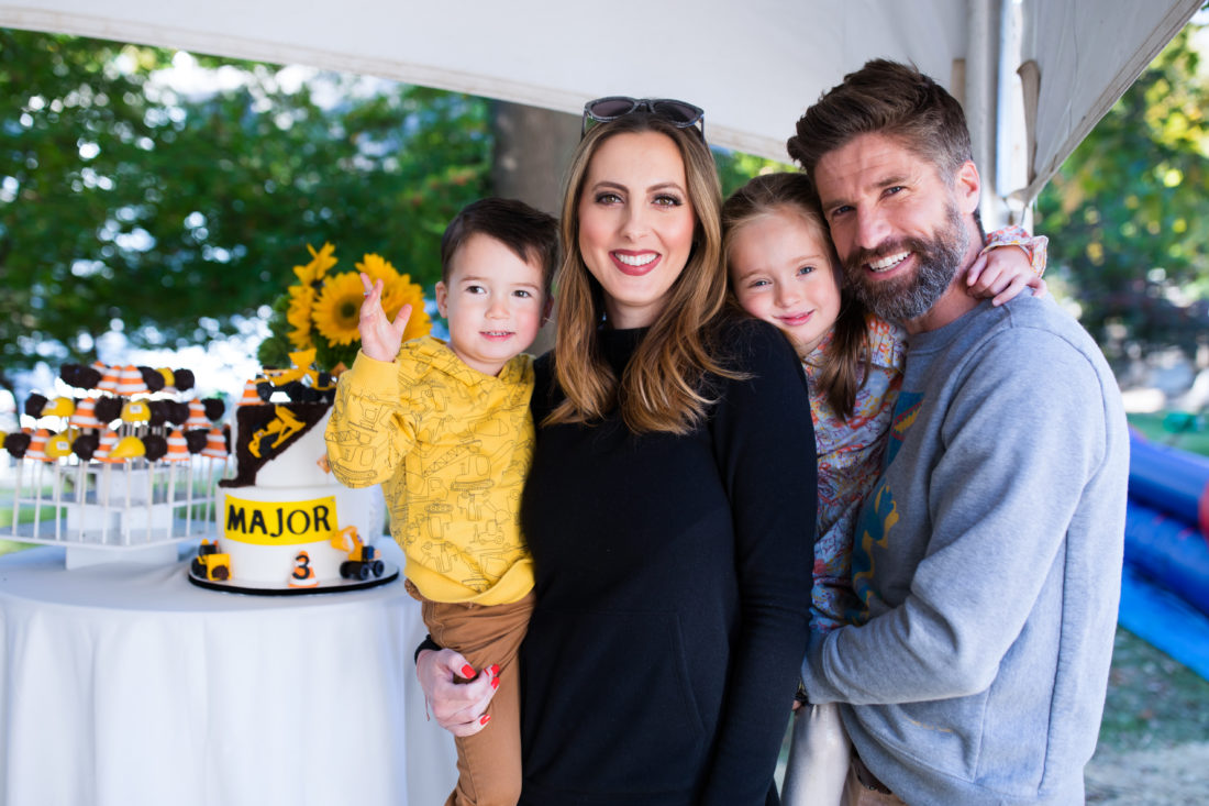 The Martino's at son Major's 3rd Birthday Party
