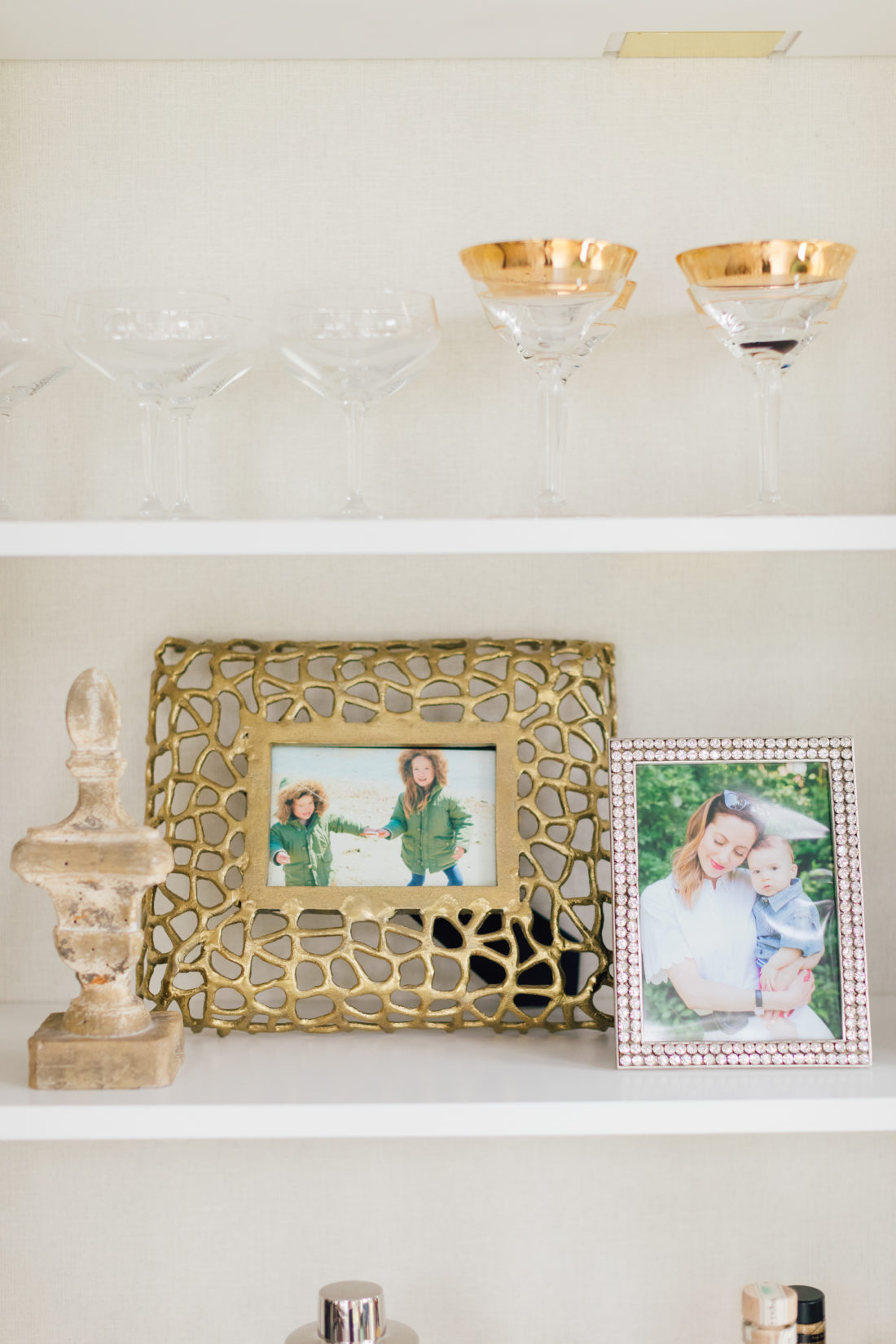 Details on the shelves in Eva Amurri Martino's newly renovated dining room