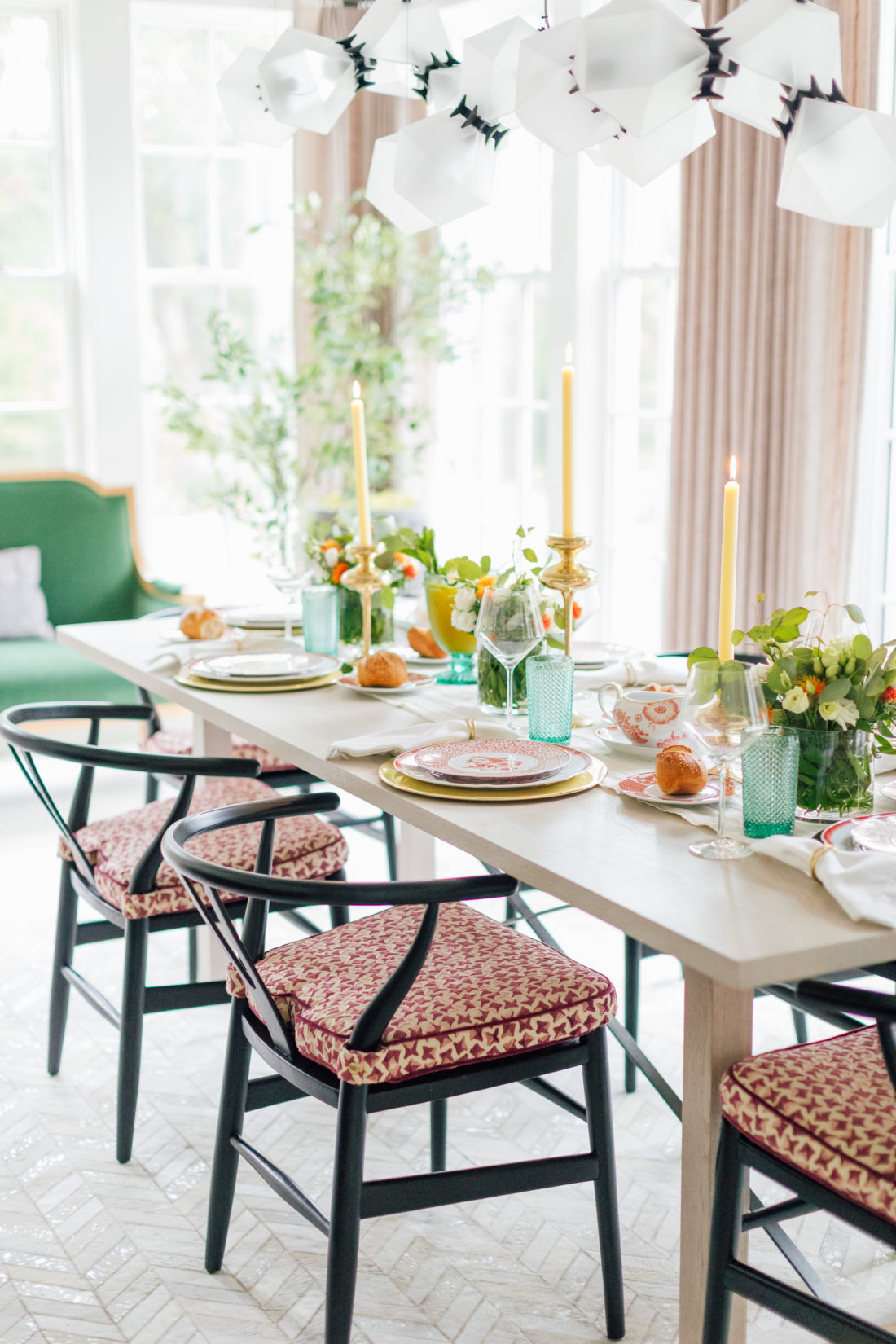 The table setting for Eva Amurri Martino's 2019 Thanksgiving