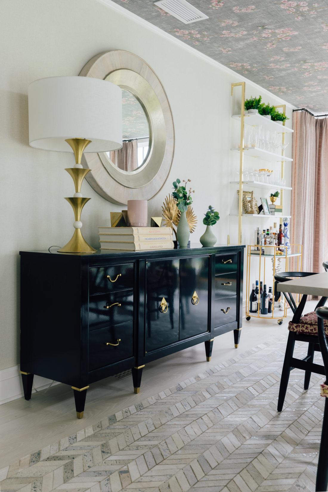 The custom Buffet inside Eva Amurri Martino's renovated dining room
