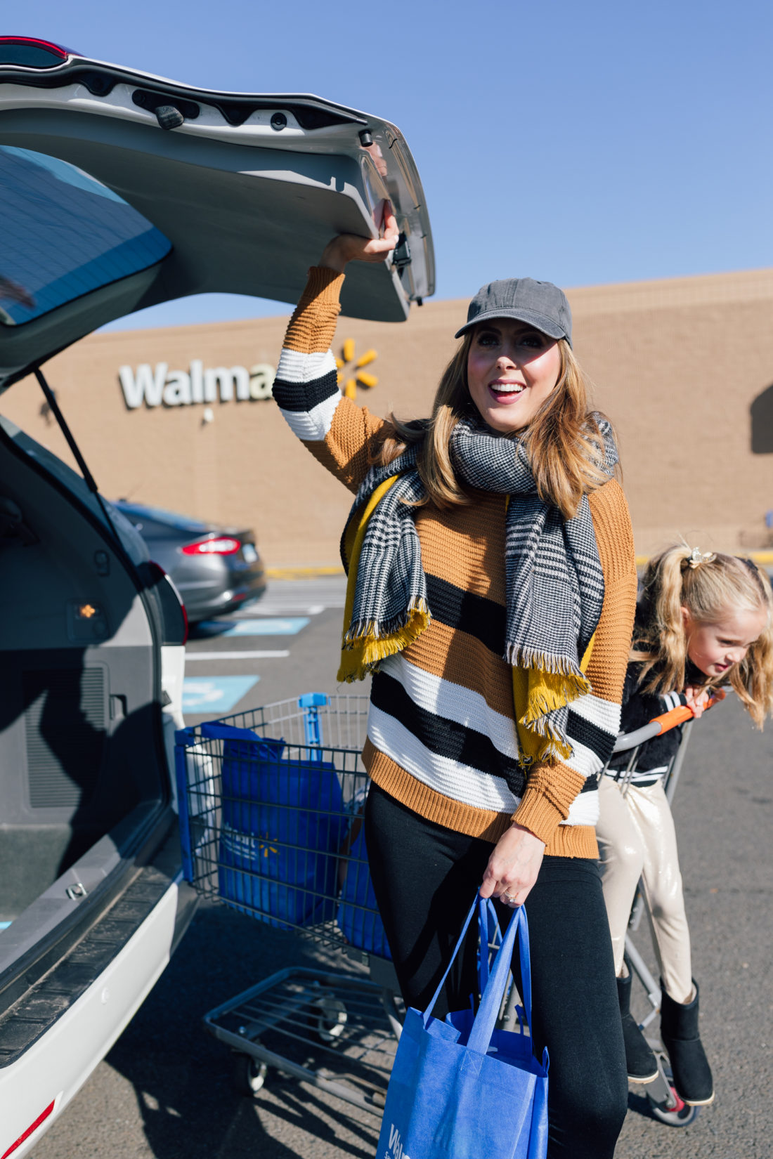 Eva Amurri Martino loads up her Walmart purchases
