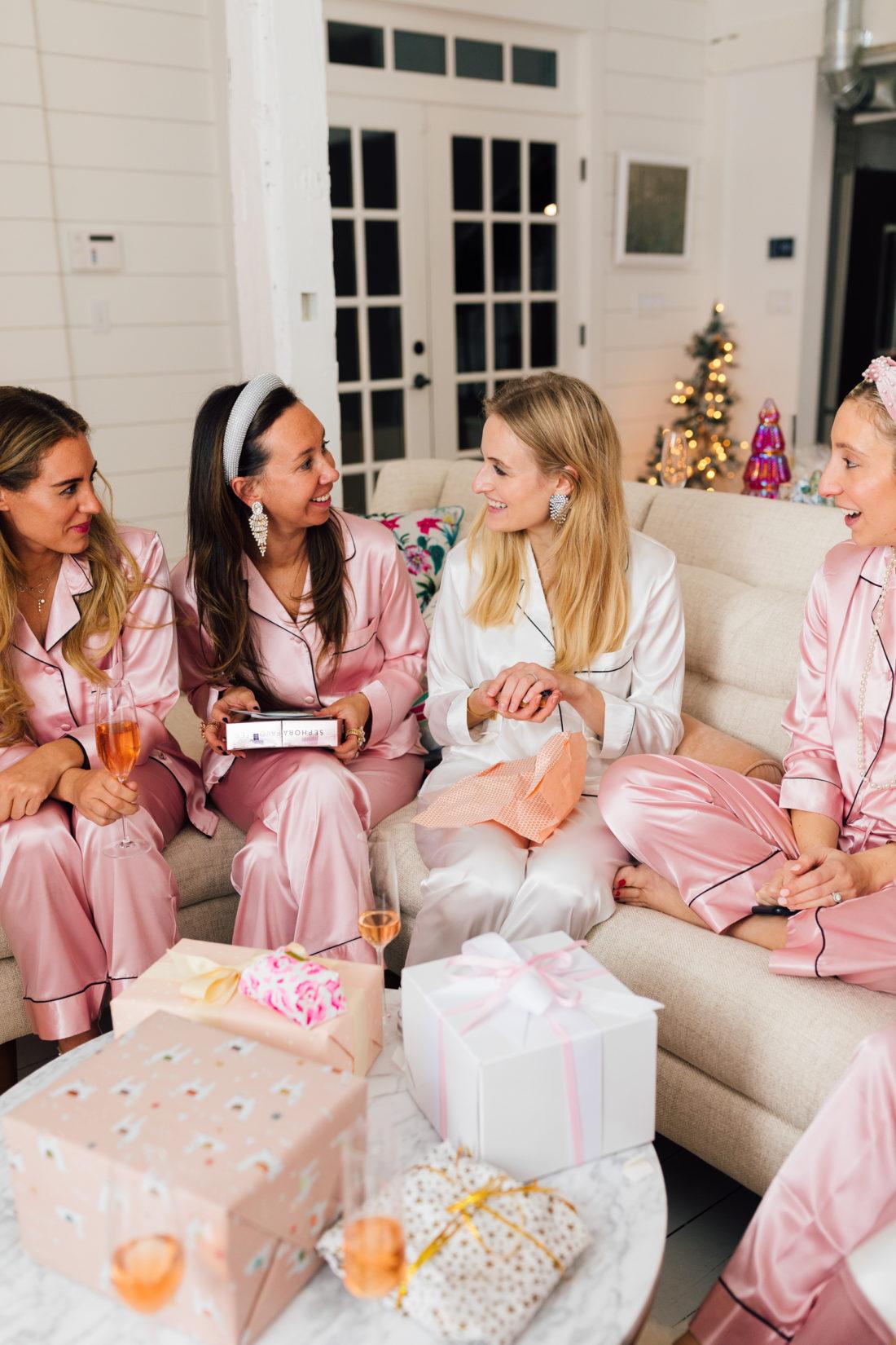 Eva Amurri throws a white elephant pajama party