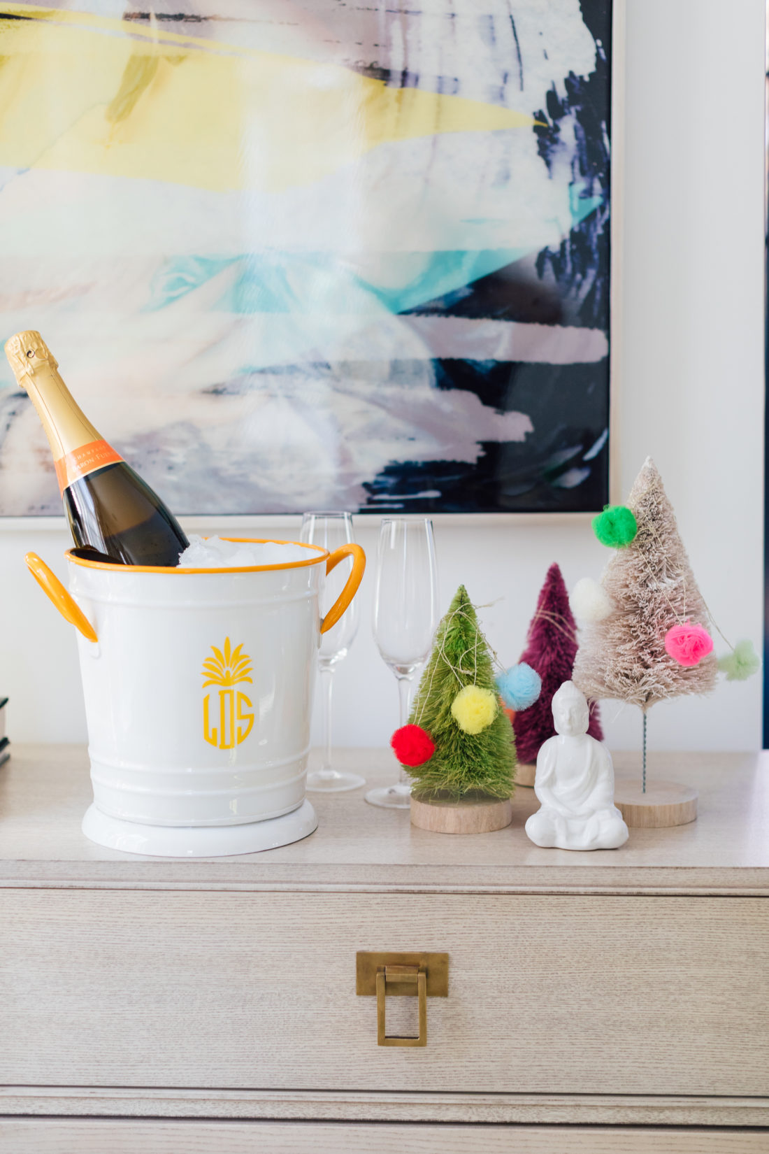 Eva Amurri Martino shares her favorite hostess gifts under $50, including a Monogrammed Mark & Graham Enamel Ice Bucket