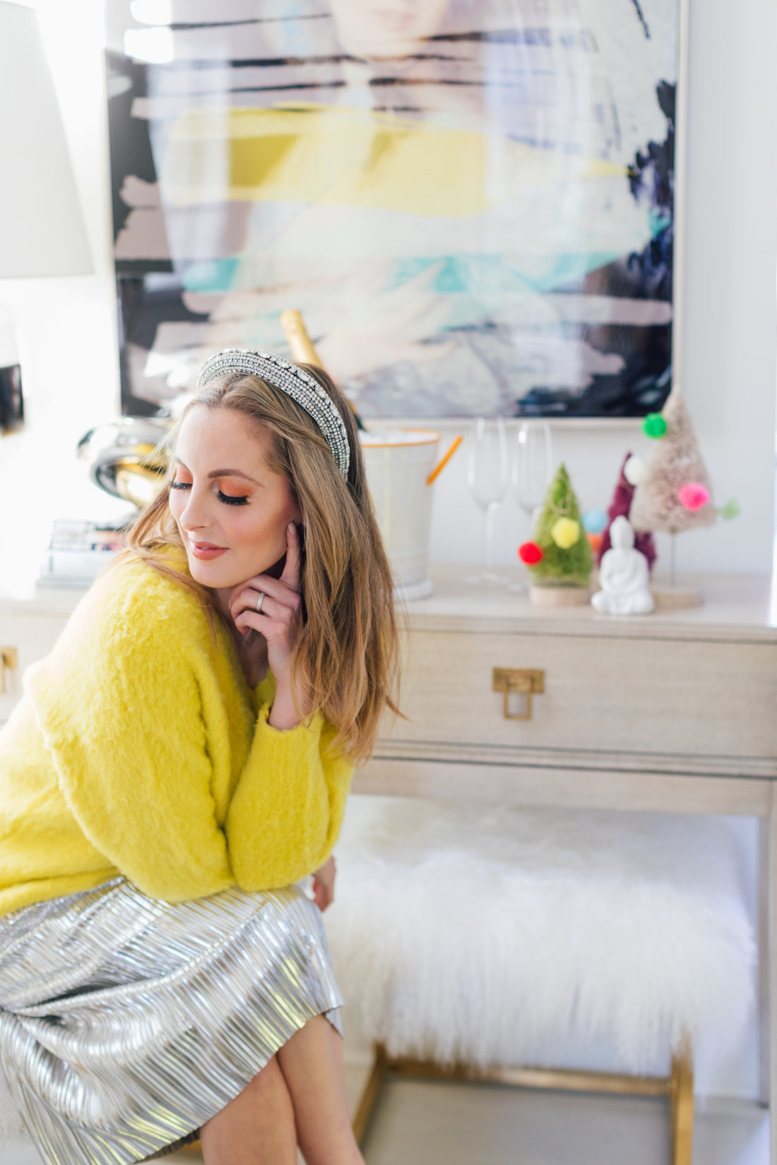 Eva Amurri Martino sits in living room at her home in Connecticut