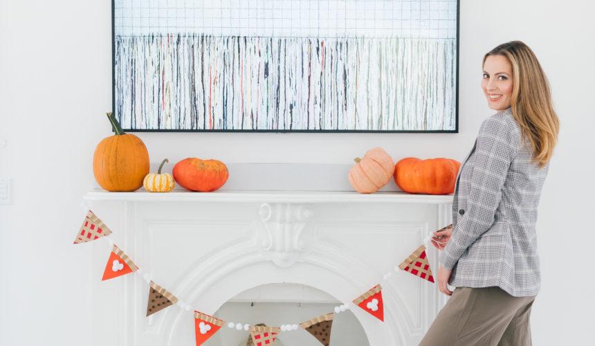Eva Amurri Martino shares an easy autumnal decor DIY