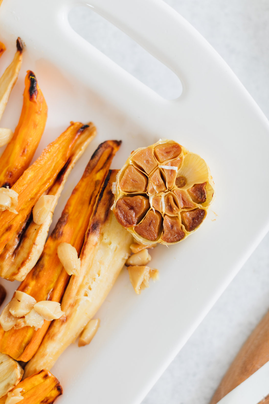 Eva Amurri Martino's Parsnips & Carrots with Pickled Currant Vinaigrette is a great Thanksgiving side dish recipe