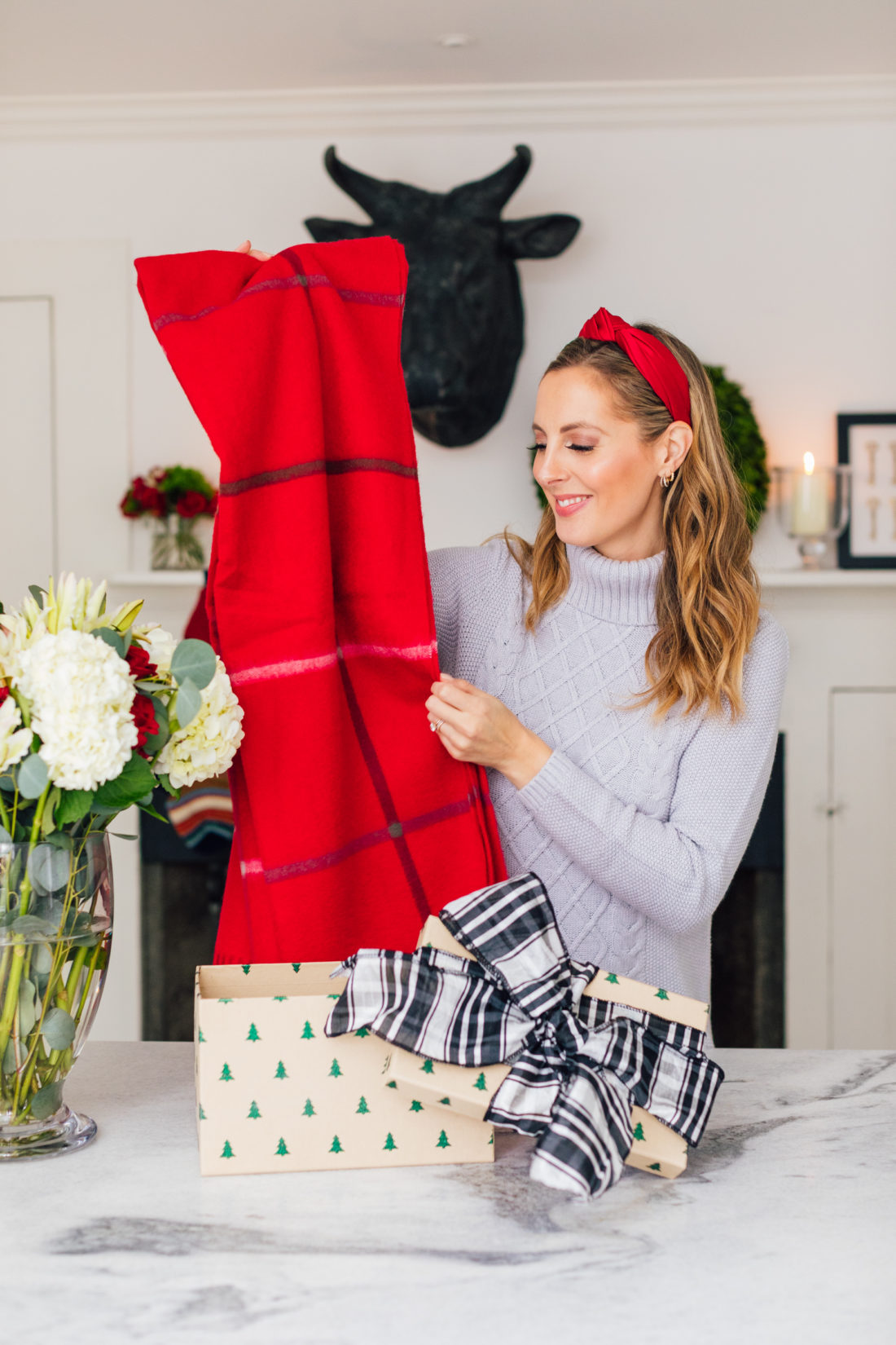 Eva Amurri Martino shares her favorite gifts from Garnet Hill, including this beautiful blanket