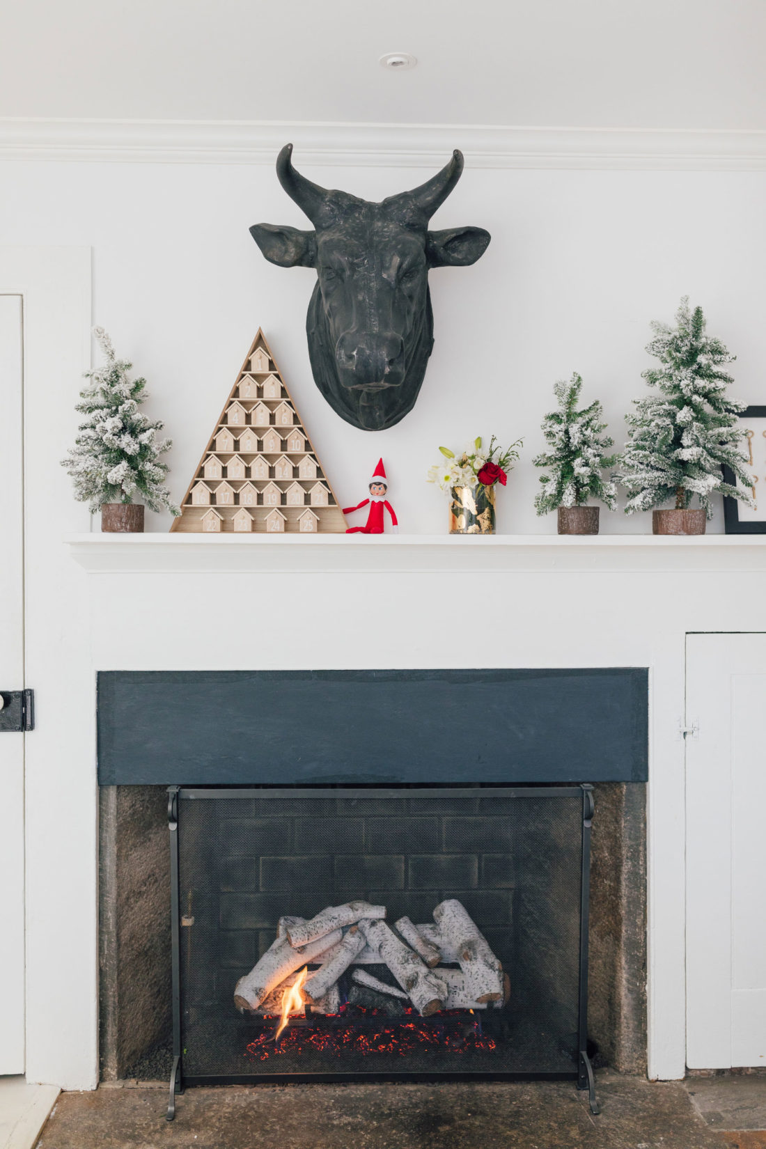 Eva Amurri's Connecticut Kitchen Fireplace