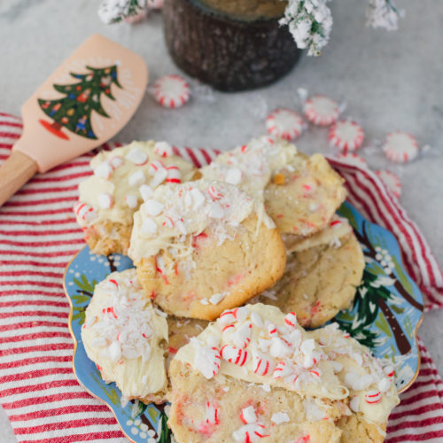 Eva Amurri shares three delicious holiday recipes, including White Chocolate Dipped Peppermint Crunch Cookies