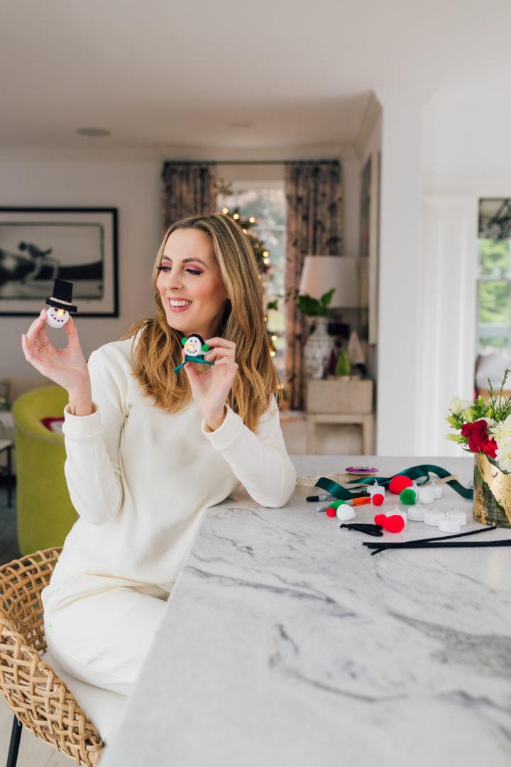 Eva Amurri shares an easy, kid-friendly DIY Tea Light Snowman Ornament