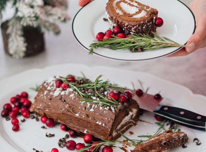 Eva Amurri shares three delicious holiday recipes, including a Bûche de Noël