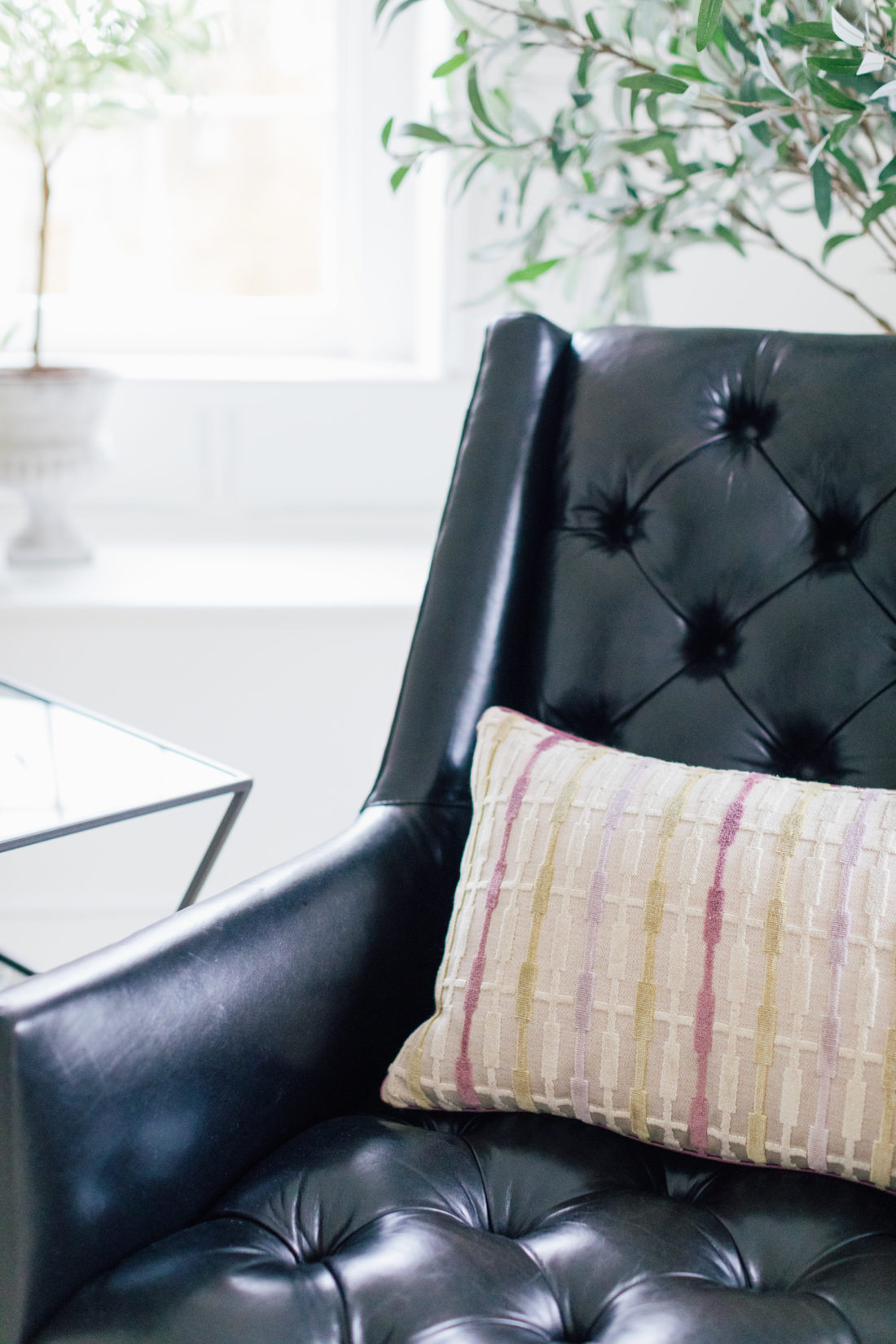 The leather chair inside Eva Amurri's newly finished Guest Suite