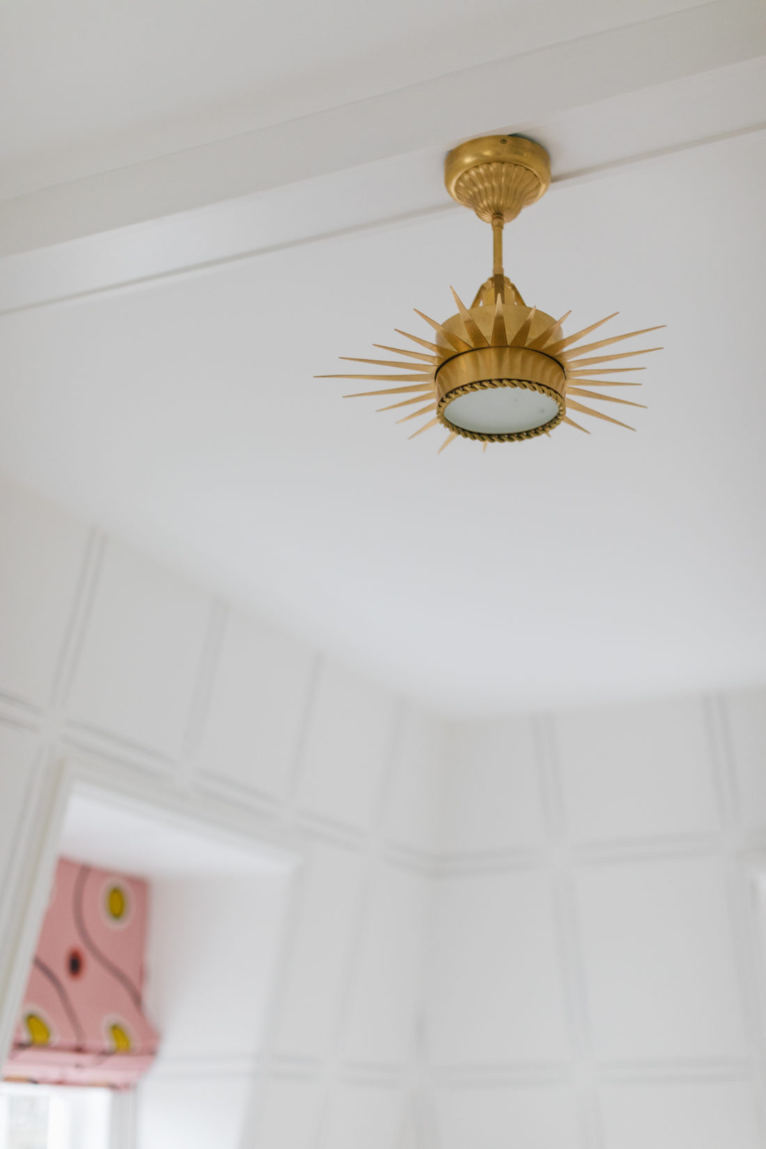 Lighting fixture inside Eva Amurri's newly finished Guest Suite