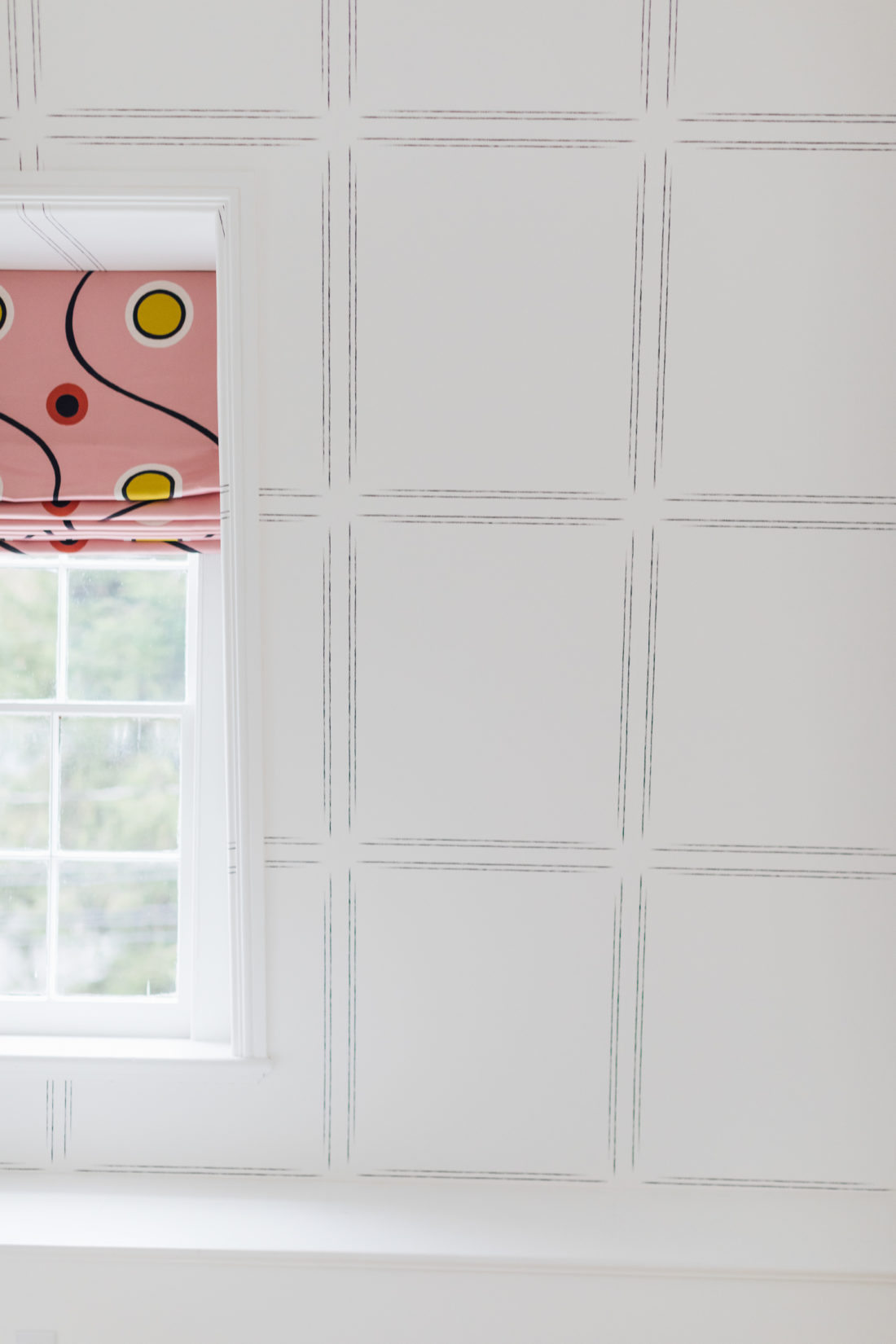 Wallpaper inside Eva Amurri's newly finished Guest Suite