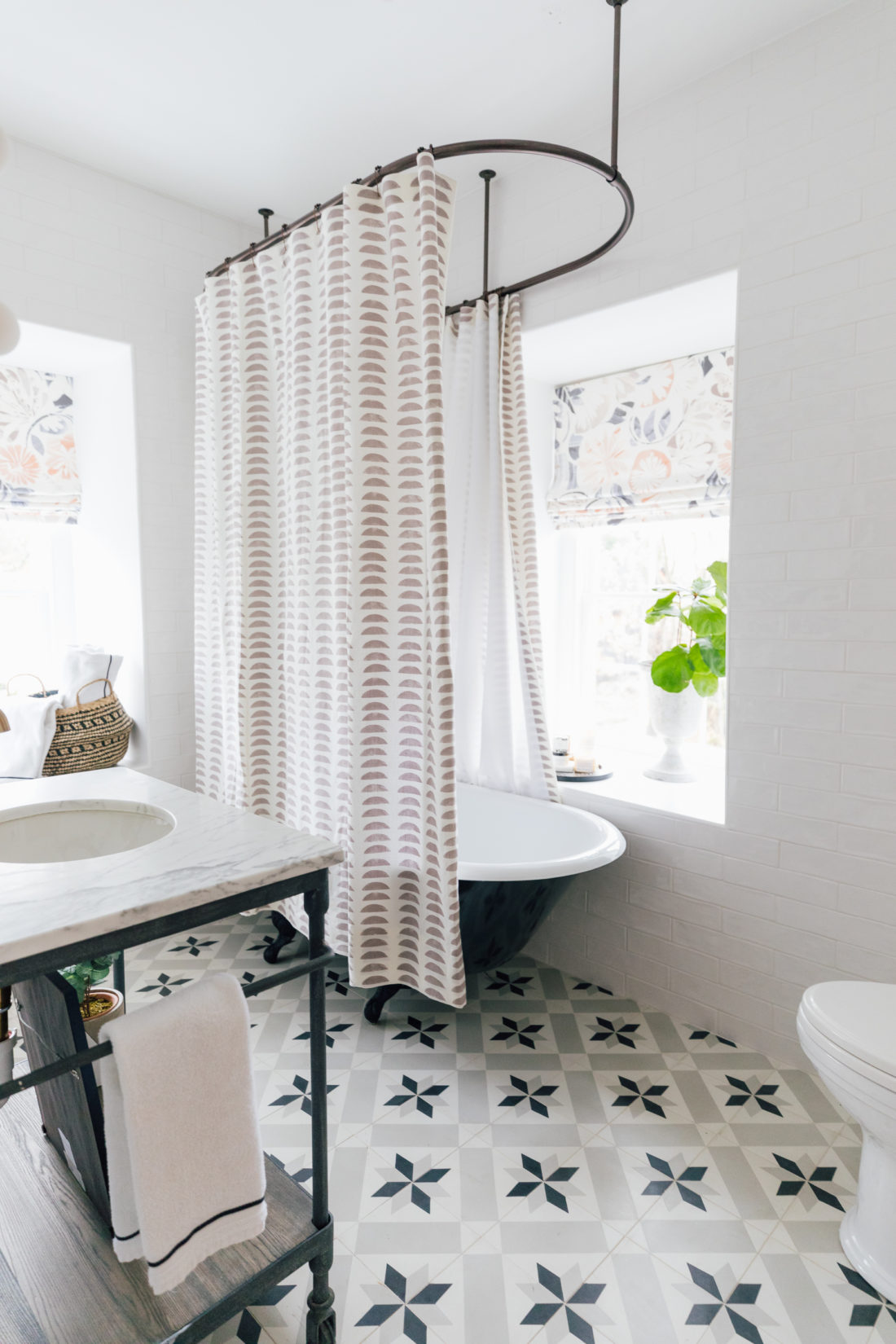 The bathroom inside Eva Amurri's newly finished Guest Suite