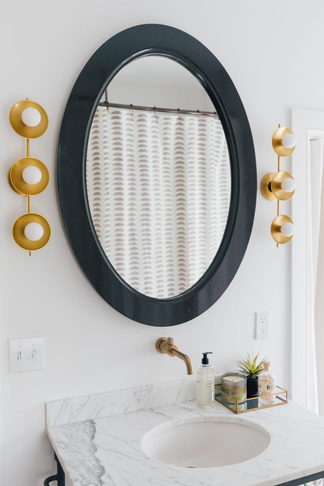 Bathroom fixtures inside Eva Amurri's newly finished Guest Suite