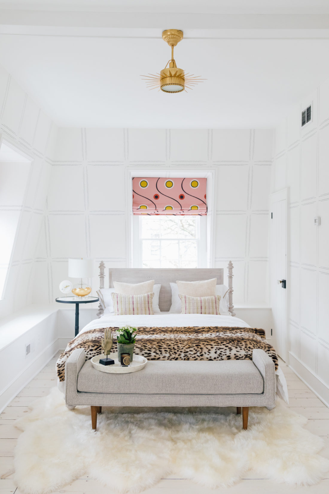 The bed inside Eva Amurri's newly finished Guest Suite