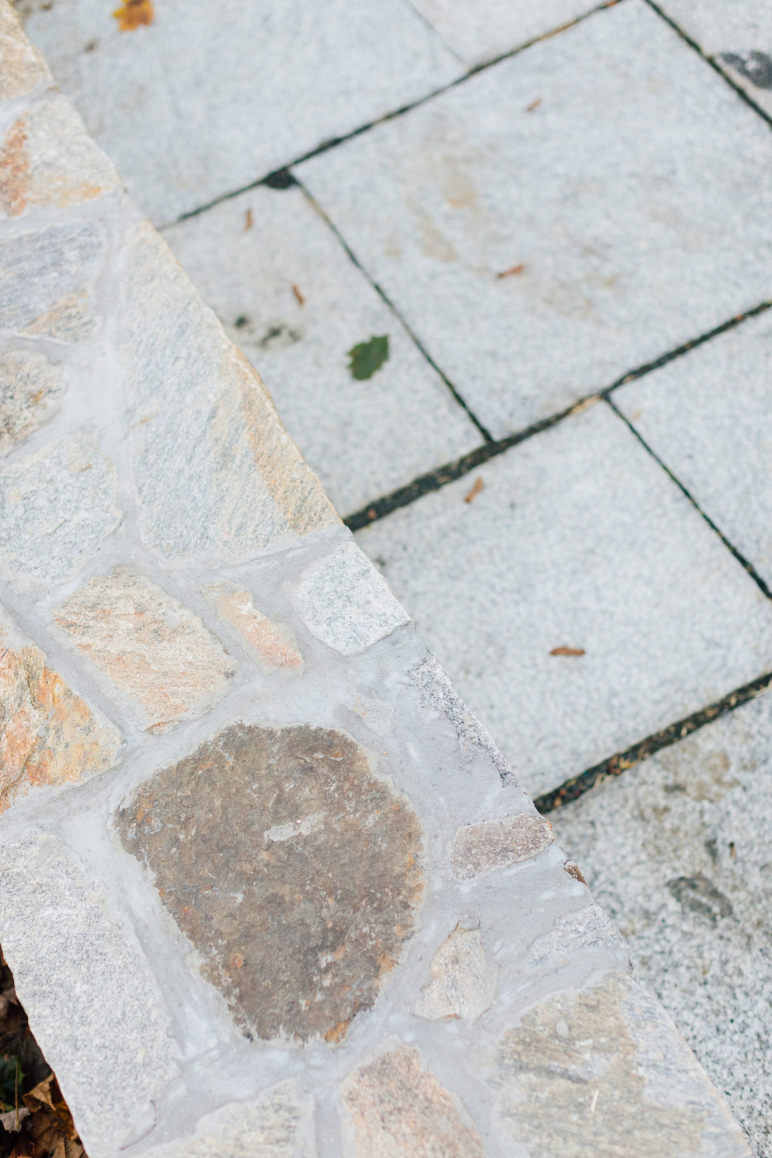 Swenson Granite stone on the patio of Eva Amurri Martino's Connecticut home