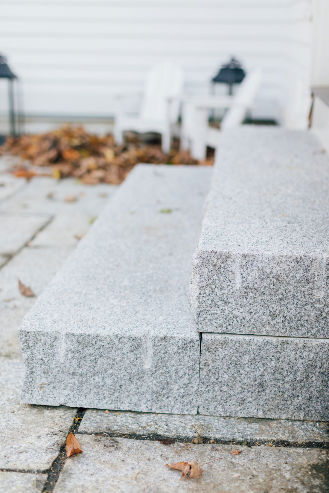 Swenson Granite steps at Eva Amurri Martino's Connecticut home