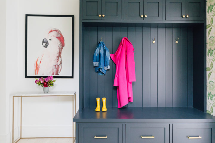 Blogger Eva Amurri's completed Breezeway reveal with built-in mud room