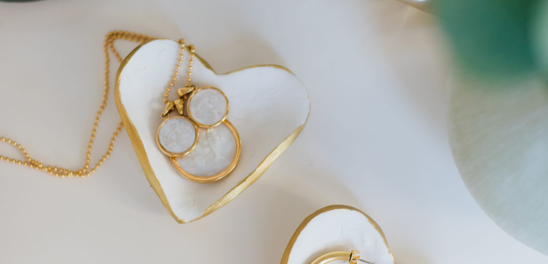 DIY Heart Shaped Ring Dishes