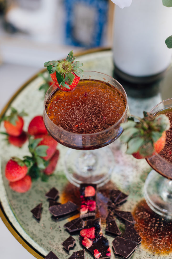 Blogger Eva Amurri serves a Valentine's Day cocktail at her Connecticut home