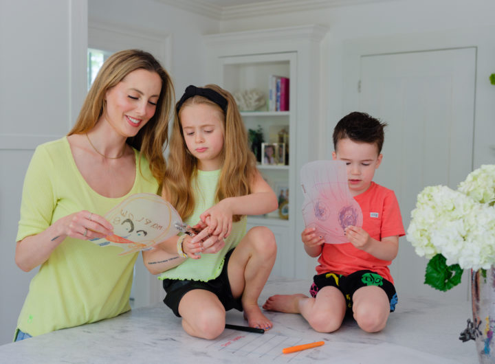 Eva Amurri shares an easy DIY Portrait Keychain Craft for Father's Day