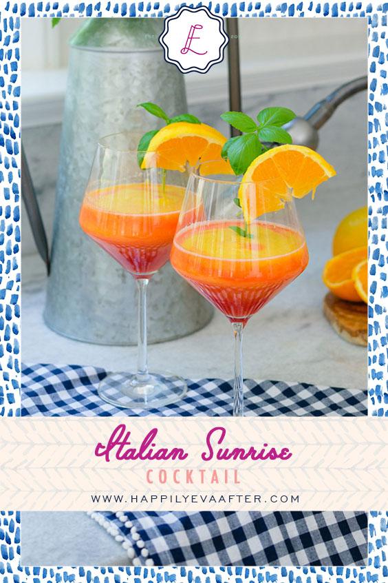 Eva Amurri shares a recipe for her Italian Sunrise Cocktail