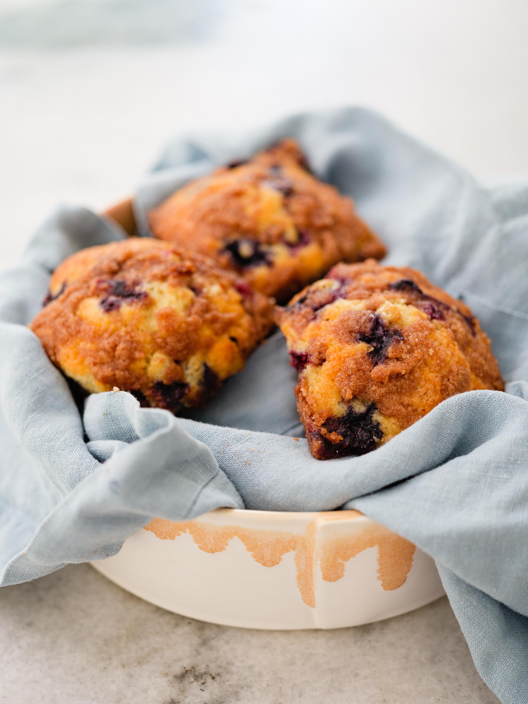 Eva Amurri shares her recipe for Blueberry Crumble Muffins