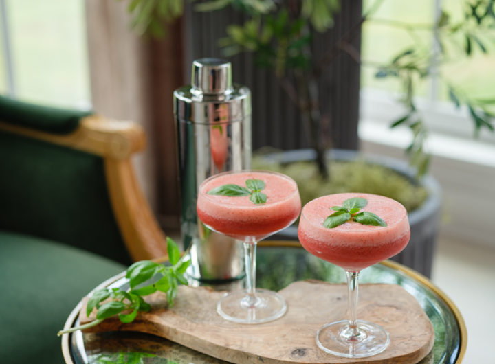Eva Amurri shares her Strawberry Basil Gin Fizz recipe