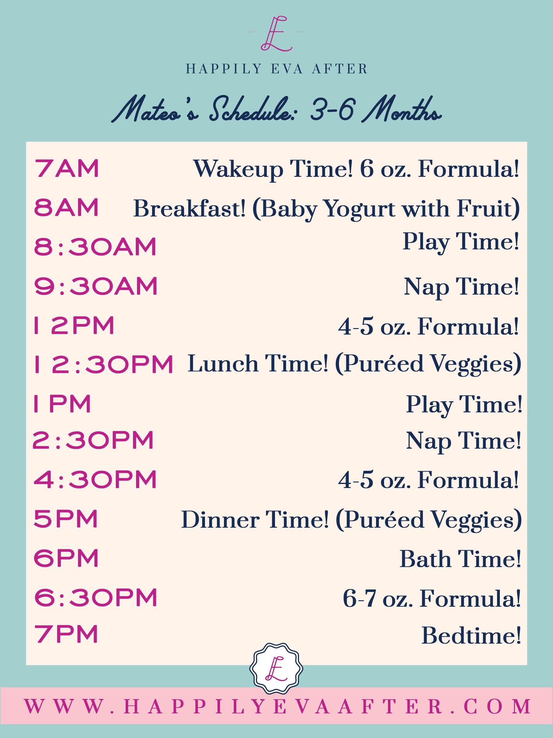 Eva Amurri shares her baby schedule for 3-6 months