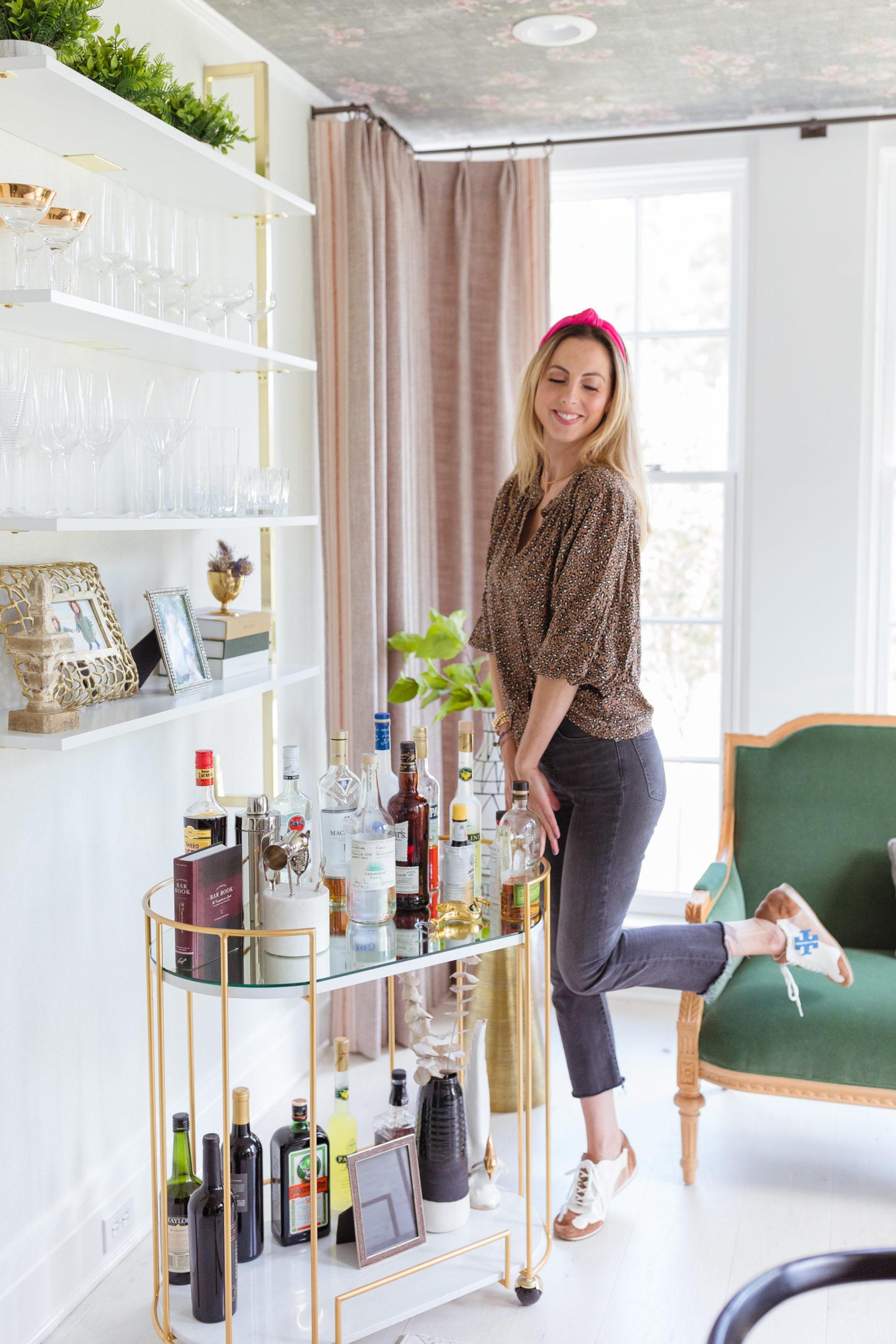 Eva Amurri shares how to set up an at-home bar