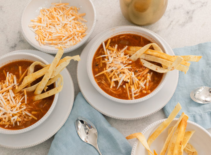 Eva Amurri's slow cooker chicken tortilla soup recipe