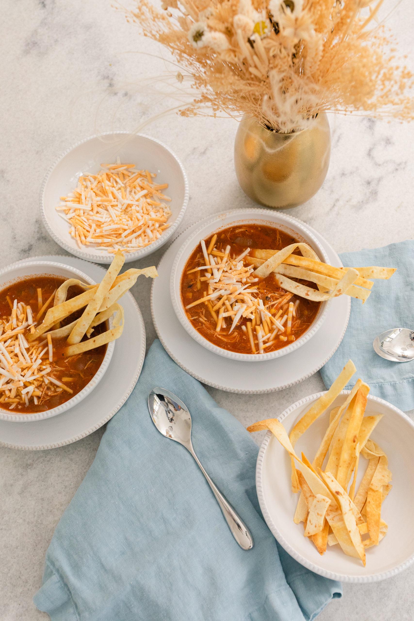 Eva Amurri's slow cooker chicken tortilla soup recipe