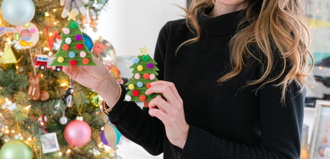 Eva Amurri shares an easy DIY for Clothespin Christmas Tree Ornaments