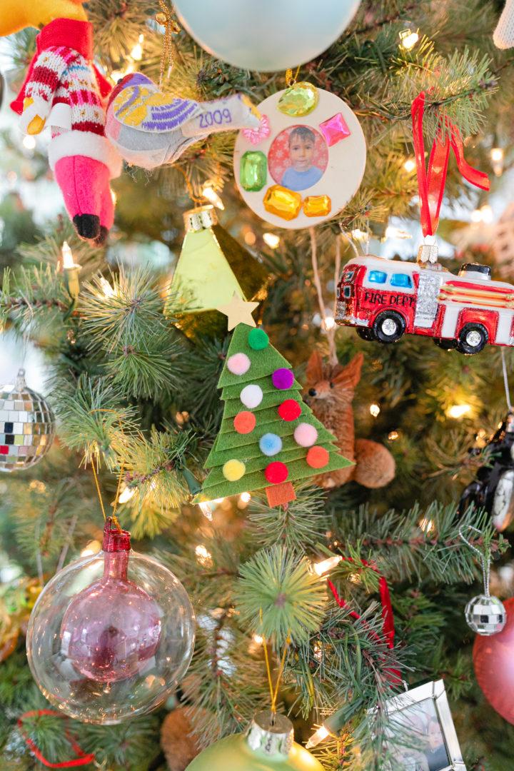Eva Amurri shares an easy DIY for Clothespin Tree Christmas Ornaments