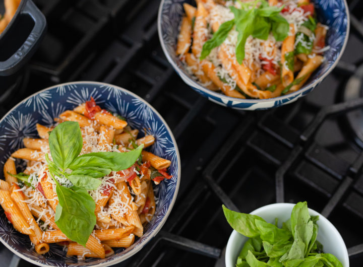 Eva Amurri shares a one-pot tomato basil pasta recipe