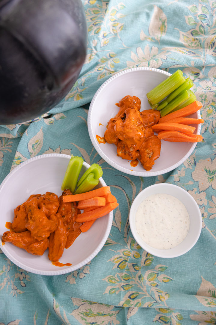 Eva Amurri shares a recipe for Crispy Baked Chicken Wings for the Super Bowl