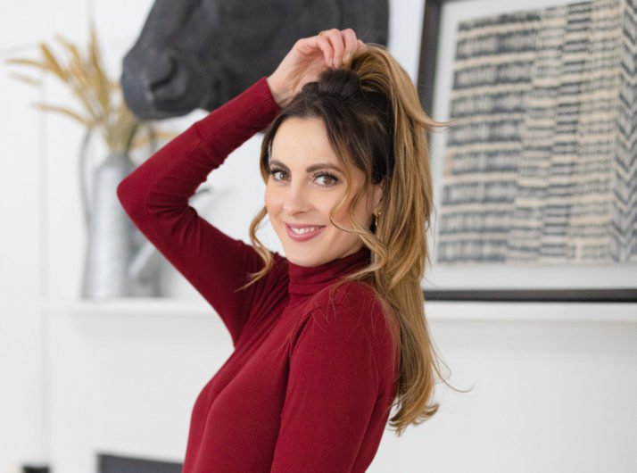 Eva Amurri shares a Half Pony Hair Tutorial