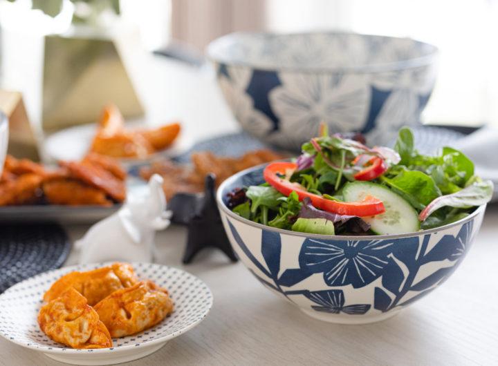 Eva Amurri shares her denim indigo table